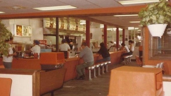 This undated photo provides a look inside Schaller's.