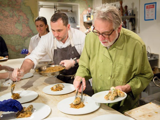 Katya Hutnik, Justin Paterson and chef Dano Hutnik at the Holiday in the Finger Lakes dinner at the James Beard House on Dec. 12.