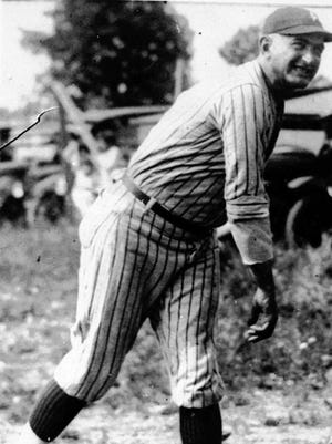 """AP Photo Arlene Marcley, president of the Shoeless Joe Jackson Museum, is starting a new petition for the Greenville native?s reinstatement to Major League Baseball. -  -ADVANCE FOR WEEKEND of JULY 21--22--Joseph """"Shoeless Joe"""" Jackson is shown in action during his heyday in an undated photo. As if pennant races and wild card chases aren't tough enough, now baseball wants fans to separate Cochrane from Bench, Cobb from Mays, Ruth from Aaron. The sad story of Shoeless Joe Jackson also is embedded with the tale of his beloved bat: Black Betsy, a warped piece of hickory that Jackson used throughout his life, before and after he was banished for allegedly joining in the fix of the 1919 World Series. For decades after Jackson's death in 1951, the fate of the bat was largely unknown. But now his wife's cousin _ who kept Black Betsy on a bookcase in South Carolina all this time _ has decided to see what it can fetch at auction.(AP photo)-  -Shoeless Joe Jackson"""