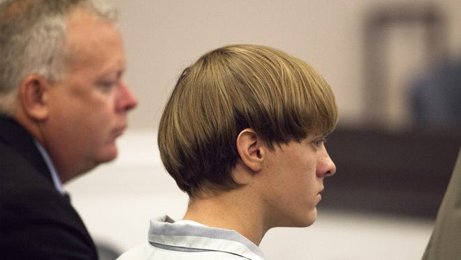 Dylann Roof in Charleston on July 16, 2015.