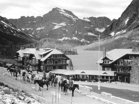 The Many Glacier Hotel opened on July 4, 1915.