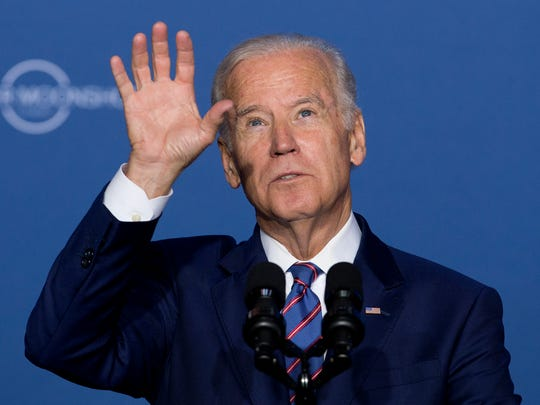 Vice President Joe Biden speaks at the Cancer Moonshot Summit at Howard University in Washington, Wednesday, June 29, 2016. Biden is trying to bolster efforts to cure cancer at this summit focusing on research and innovative trials. (AP Photo/Carolyn Kaster)