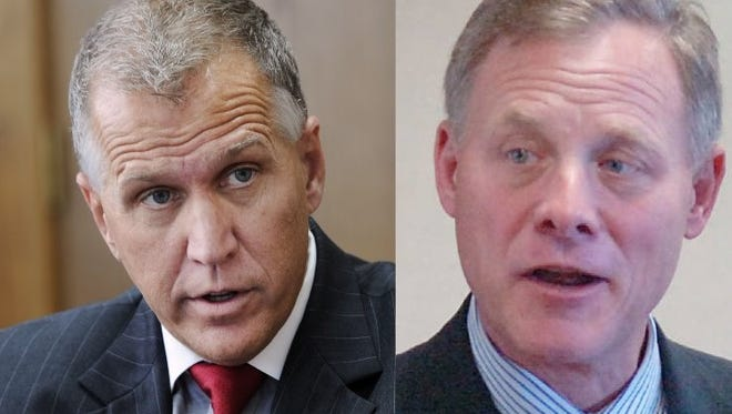 U.S. Sen. Thom Tillis, left, and Richard Burr