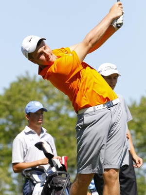 Kaukauna's Brock Hlinak has won the Fox Valley Association golf title two years in a row.