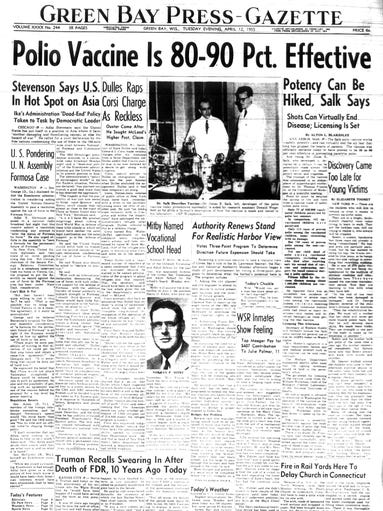 polio and the discovery of vaccine Essay about polio and the discovery of vaccine the polio vaccine amber metoxen in 1952, the polio epidemic happened, each of the 48 states at the .