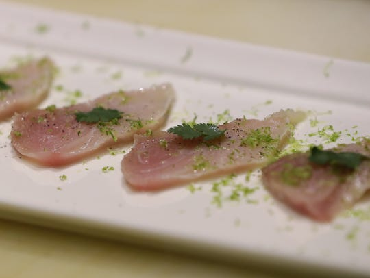Yellowtail sashimi at Koreana.