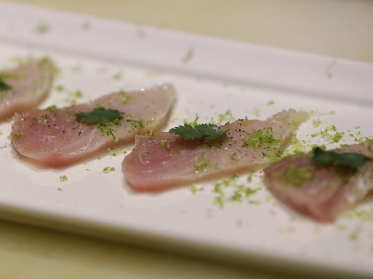 Yellowtail sashimi at Koreana.
