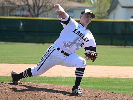 Abilene High pitcher Andrew Bennett throws a pitch