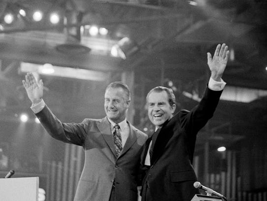 President Richard Nixon and Vice President Spiro T.