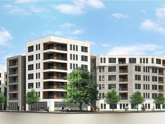 A rendering of what a proposed new housing project
