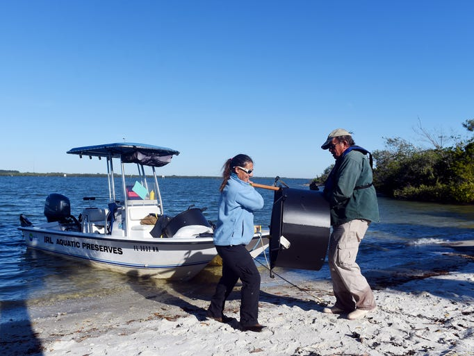 Irene Arpayoglou, manager of the Indian River Lagoon