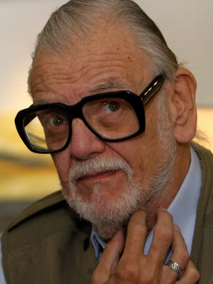 Film director George A. Romero talks during an interview  in Mexico City, Oct. 21, 2011.