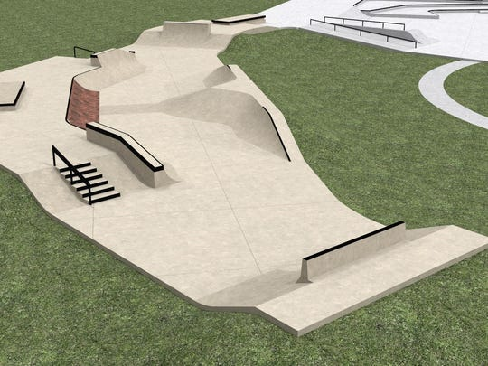 A rendering of the $325,000, 6,000-square-foot skate park expansion.