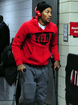 Derrick Rose is out indefinitely with a torn meniscus in his right knee.