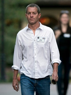 Greg Penner, vice chairman of Walmart Stores Inc., arrives to a morning session during the Allen & Co. Media and Technology Conference in Sun Valley, Idaho, U.S., on July 10, 2014.