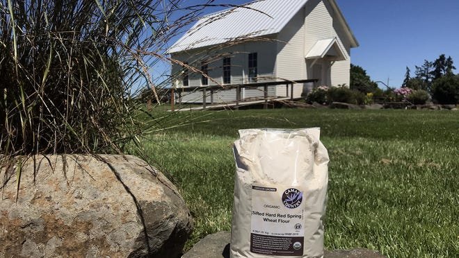 Camas Country Mill is producing retail-size bags of its flours for home bakers and selling the packages at its Eugene bakery and other sites.
