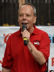Founder Don Dickstein greeting the riders last year