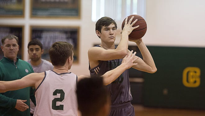 Christ School's John Fulkerson was the Carolinas Athletic Association Player of the Year for boys basketball.