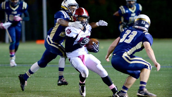 Dana Campbell was the top receiver for the Asheville High football team this season.