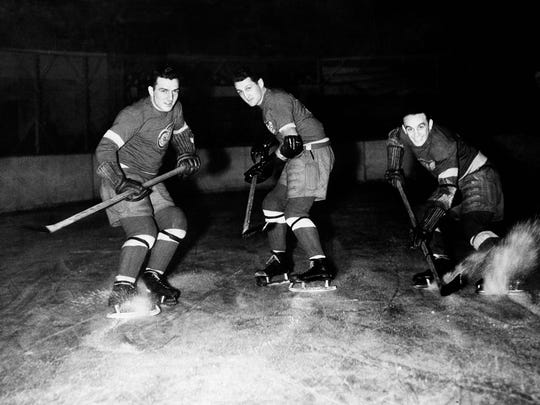 Geist's great-grandfatherHerbie Lewis, right, led the Detroit Red Wings two consecutive Stanley Cup wins in 1936 and 1937.