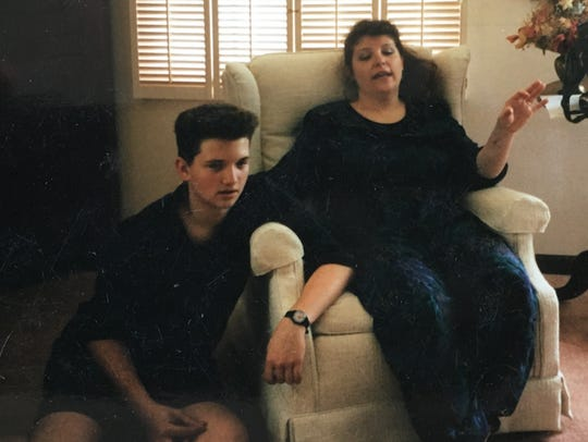Demian Hostetter (left) and his mom Becky.