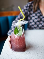 The Mockingbird's Punchin' Bag was influenced by aguas frescas, a blend of fresh fruit and herbs.