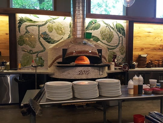 Lucette Brewing Co. installed a wood-fire pizza oven