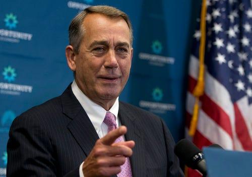 John Boehner, former House speaker, joining cannabis company board