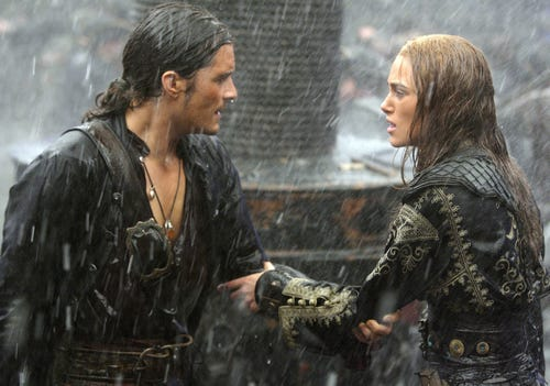Orlando Bloom  and Keira Knightley in a scene from