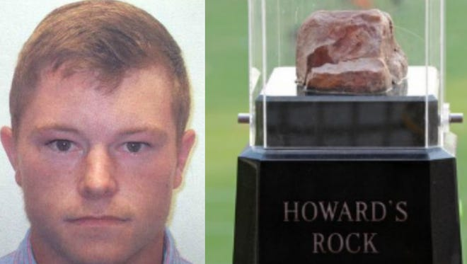 Micah Rogers, who was charged with Malicious Injury over $2,000 and Trespass last June after damaging and removing a portion of the famed rock at Clemson's Memorial Stadium, faces upgraded charges in the case.