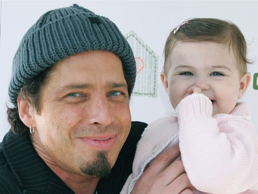 Chris Cornell and his daughter attend the John Varvatos