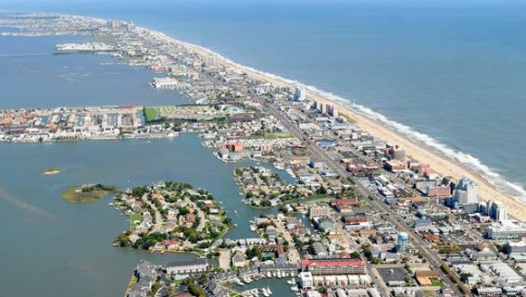 Aerial view of Ocean City.
