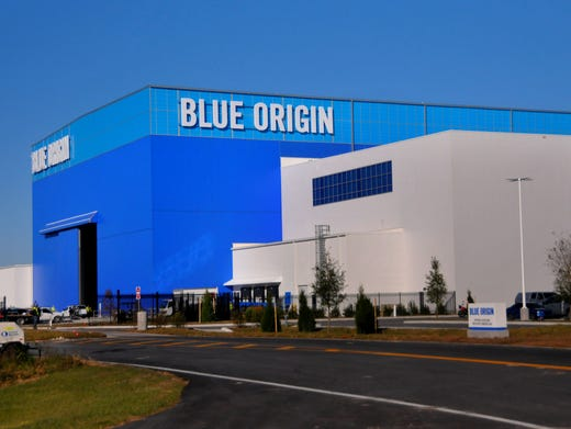 The new Glenn rocket factory of Blue Origin at KSC's Exploration