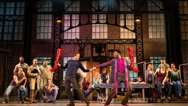 The cast of 'Kinky Boots' performs in the production's national tour.