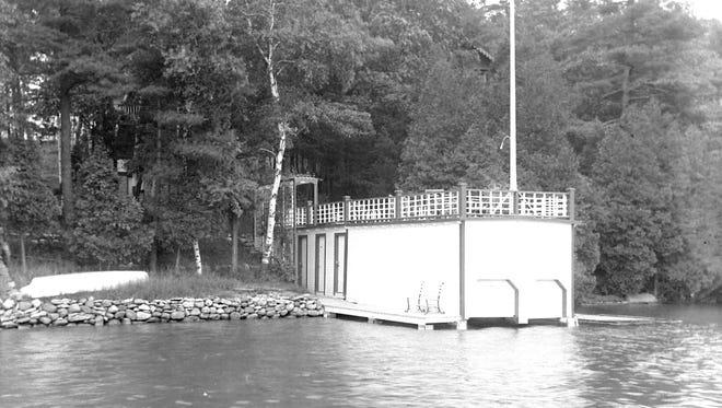 Charles Broughton's boathouse on Crystal Lake.  Image dated 6-20-1927.
