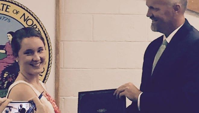 Macon County Schools recently recognized Highlands graduate Kirstyn Owen.