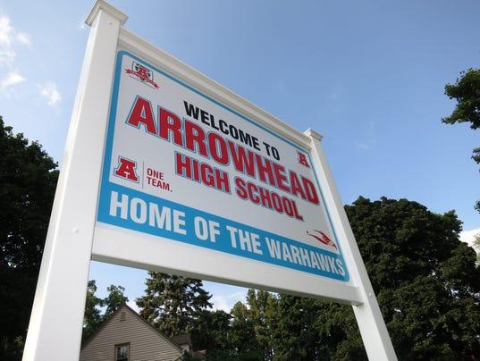 ArrowheadHighSchoolSign