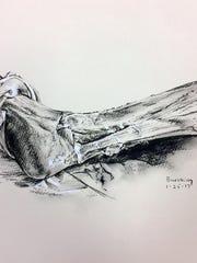 A recent anatomy sketch by Michael Buesking, associate