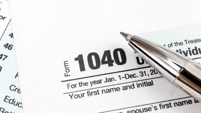 Federal tax form 1040.