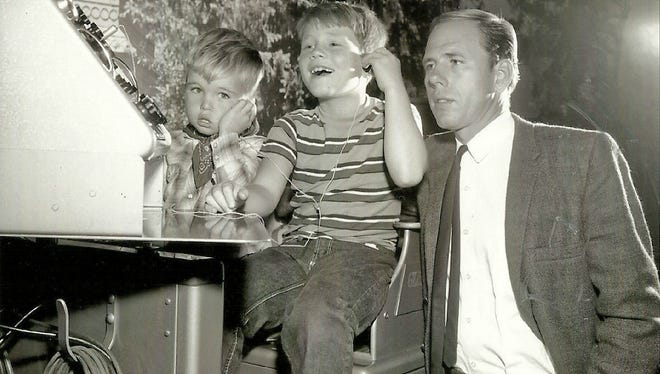 Ronny Howard, center, little brother Clint and father Rance all appeared in a 1963 episode, 'A Black Day for Mayberry,' of the 'Andy Griffith Show.'