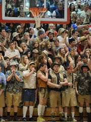 Safari outfits in the Bedford North Lawrence student section