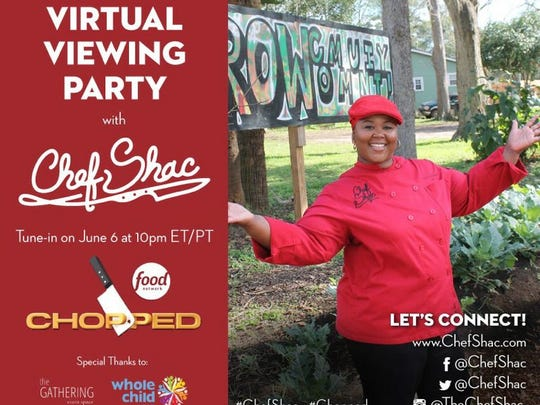 Chef Shacafrica Simmons urges locals to watch her compete on Chopped on the Food Network Tuesday night