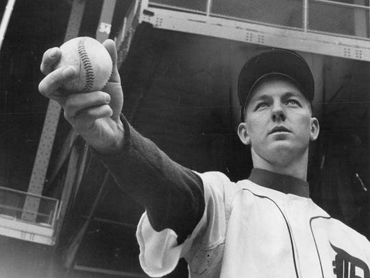 Young Detroit Tiger player Al Kaline in his fourth season with the Detroit Tigers back in 1956.