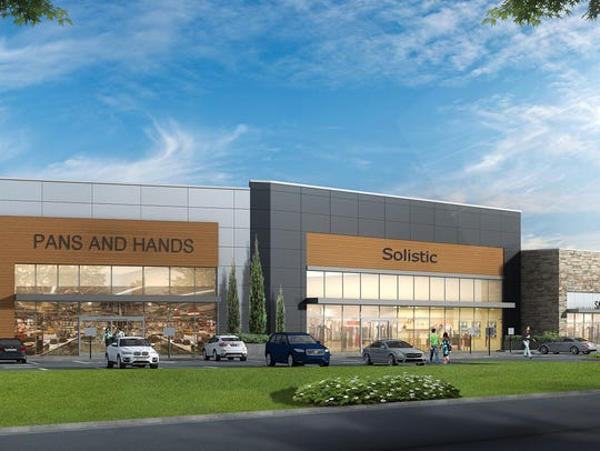 A rendering of the proposed Paramus Crossroads retail