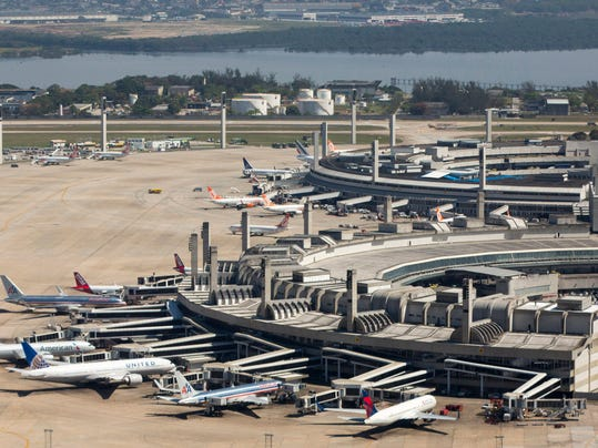 """FILE - This Sept. 11, 2013 file photo released by Portal da Copa 2014 shows an aerial view of the Galeao international airport in Rio de Janeiro, Brazil. The chronic delays in airport renovations have matched stadium construction, but the Brazilian government is reassuring visitors they won't have problems on arrival. On Monday, May 19, 2014, Brazil's Civil Aviation Minister Wellington Moreira Franco said that although some of the """"work won't be finished, all airports will be prepared to adequately"""" receive World Cup tourists. (AP Photo/Portal da Copa 2014, Daniel Basil, File)"""
