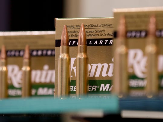 Remington rifle cartridges are displayed at the 35th