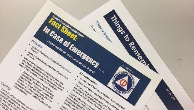 Guam Homeland Security issued new fact sheet Friday, Aug. 11, 2017 to help residents prepare for an imminent missile threat.