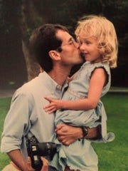 Camila Mendoza with father Eduardo Mendoza de la Torre,
