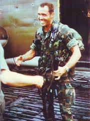 Chief Master Sgt . Wayne Fisk in Vietnam.
