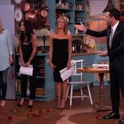 Jimmy Kimmel had Jennifer Aniston, Courteney Cox and Lisa Kudrow on his show.